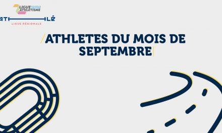 Voici les athlètes du mois de septembre!
