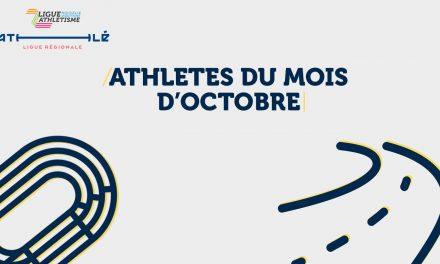 les athlètes d'octobre sont…